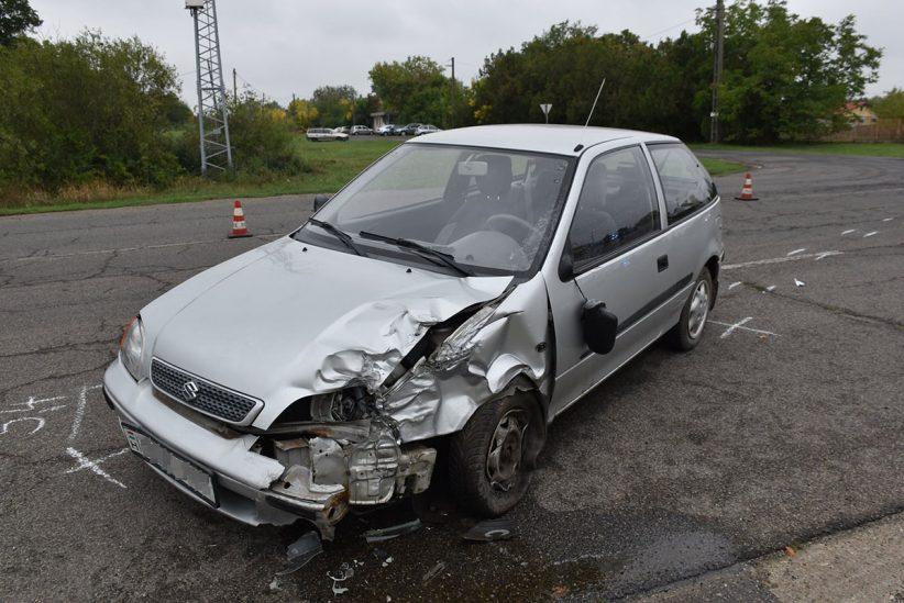 baleset Gyulán