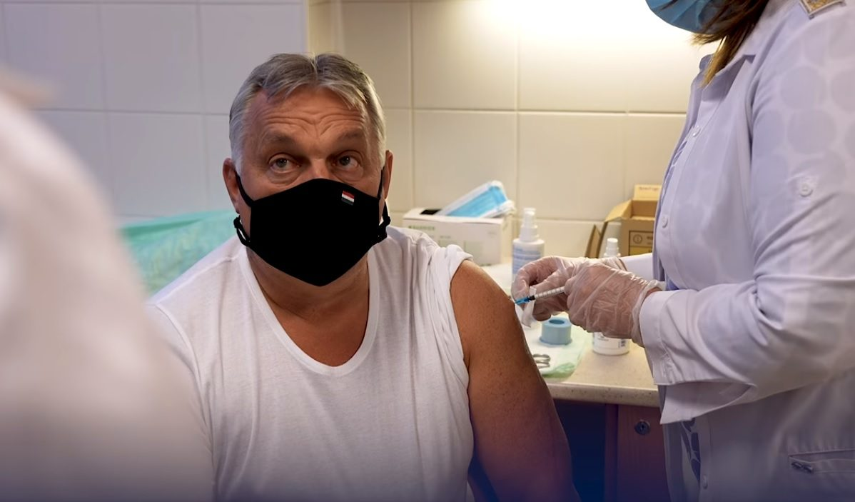 Orbán Viktor megkapta a harmadik oltást
