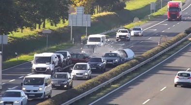 fékezés nélkül, M1 autópálya baleset