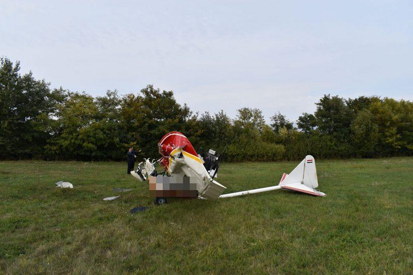 Légi, repülőgép baleset, Békéscsabai repülőtér